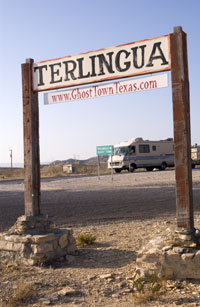 Terlingua sign.